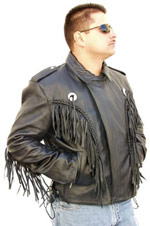2004 MENS FRINGE  MOTORCYCLE JACKET