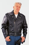 C100 Mens Plain Motorcycle Leather Jacket $79.95