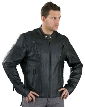 C1010 Mens Tall Size Motorcycle Scooter Leather Jacket