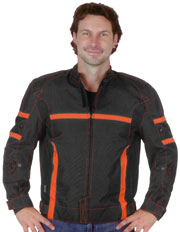 C2246 Orange & Black Vented Cordura Jacket with Armor