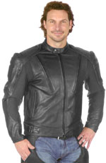 C2521 Mens Armor Leather Jacket