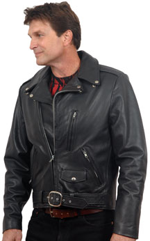 DAVIS CLASSIC LEATHER MOTORCYCLE JACKET USA MADE