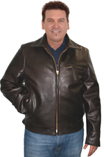 Highway Man Leather Biker Jacket