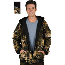 Reversible Camouflage and Black Hoodie