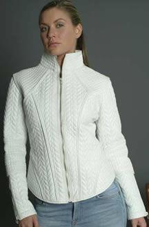 Short White Leather Jacket - JacketIn