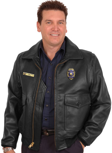 046f8c43ce2 G1 Police Leather Uniform Law Enforcement Patrol Bomber Jacket ...