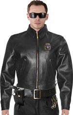 Police B Above the Gun Belt Biker jacket for Motorcycle Patrol
