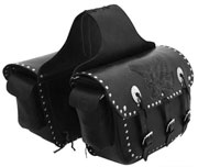 Saddle Bags 8 with Tan Embossed Black Eagle