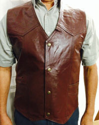 V22356 Mens Leather Vest