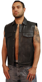Mens US Made Jean Vest