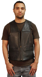 Mens USA Made Vest with Zipper
