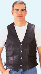 MV1 Mens Leather Vest USA Made