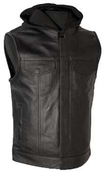 V687 Mens Club Vest with Removable Hood