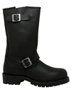 MB1442 Mens Ride Tecs Leather 13 inch Harness Boots with Square Toe and Zipper Side View