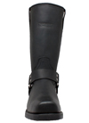MB1442 Mens Ride Tecs Leather 13 inch Harness Boots with Square Toe and Zipper front View
