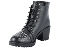 Click here to go to WB7002 Vegan Lace Boots with Studs