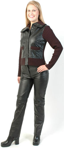 P11 LADIES LAMBSKIN LEATHER PANTS SALE $145.00