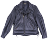 102XP Mens Vintage Pattern Stitching Motorcycle Leather Jacket Made in the USA Front View