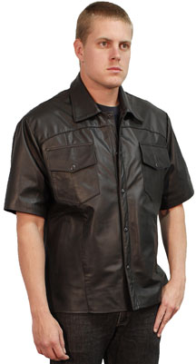 B225 Goatskin Leather Shirt
