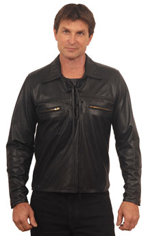 Shirt3 Mens Leather Shirt Made in the USA