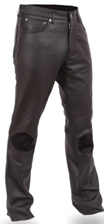 P819 Mens Leather Pants with Knee Pads