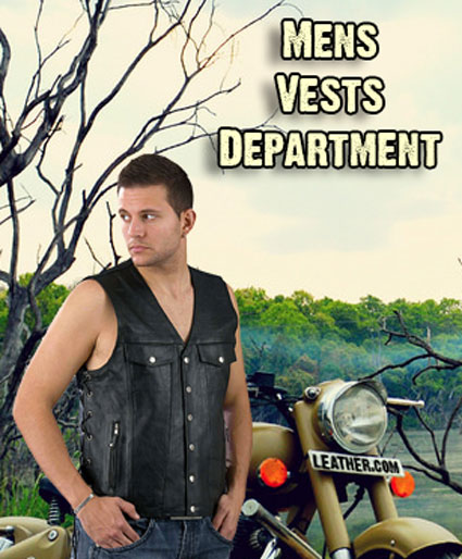 Welcome To the Mens Leather Vest Department