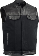 Click here for the V4951 Canvas and Leather Vest with Collar